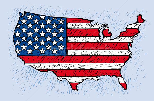 USA engrave style Stock photo © bonathos