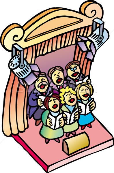 Coro clásico cantando teatro etapa Foto stock © bonathos