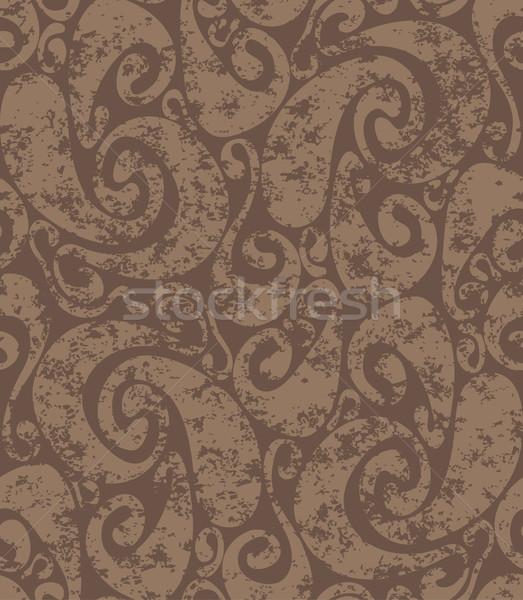 Rostigen Wirbel Muster groß Stock foto © bonathos