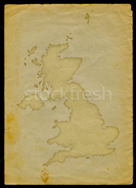 地図 古い紙 フラグ 刻ま ストックフォト © bonathos