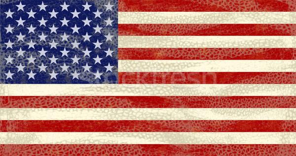 Гранж США флаг высокий подробный Сток-фото © bonathos