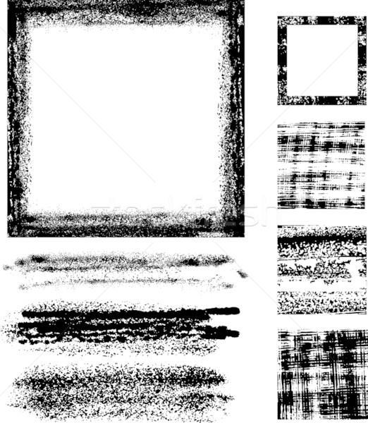 Grunge quadro conjunto inteiro gráficos elementos Foto stock © bonathos