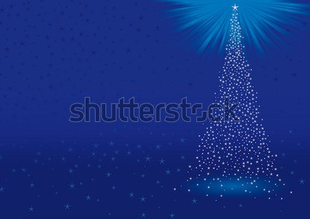 Natal abstrato azul árvore de natal paisagem celebração Foto stock © bonathos