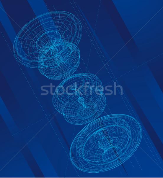 技術 図面 青 ストックフォト © bonathos