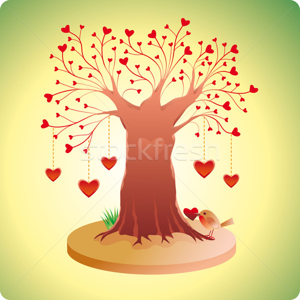 Old Love Tree	  Stock photo © bonathos
