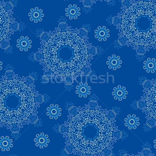 Seamless snowflake pattern  Stock photo © bonathos