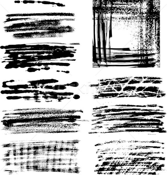Stockfoto: Grunge · frame · ingesteld · geheel · graphics · communie