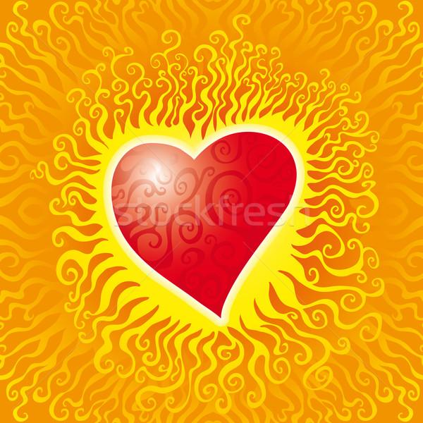 炎 中心 燃えるような ホット ストックフォト © bonathos