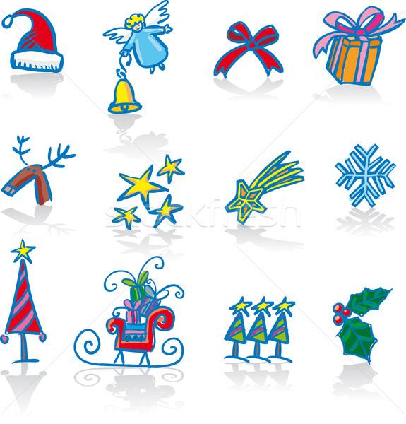 Noel oniki geleneksel semboller hazır noel Stok fotoğraf © bonathos