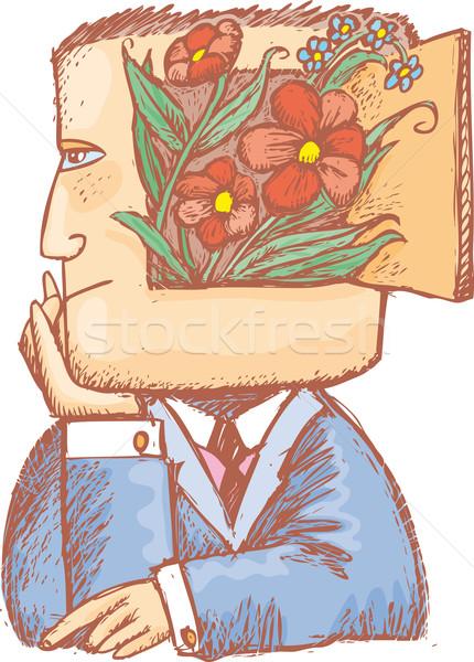 Primavera meu e homem flores dentro Foto stock © bonathos
