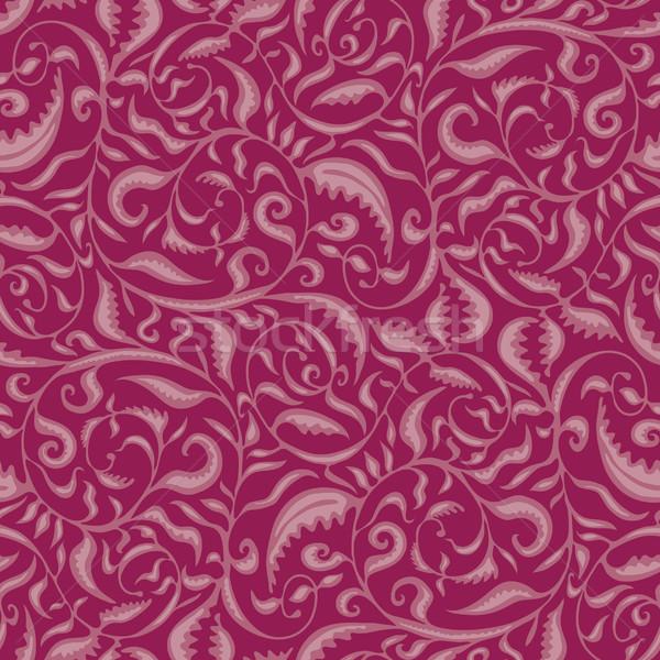 Blätter Muster Wirbel ausgewählt alle Stock foto © bonathos