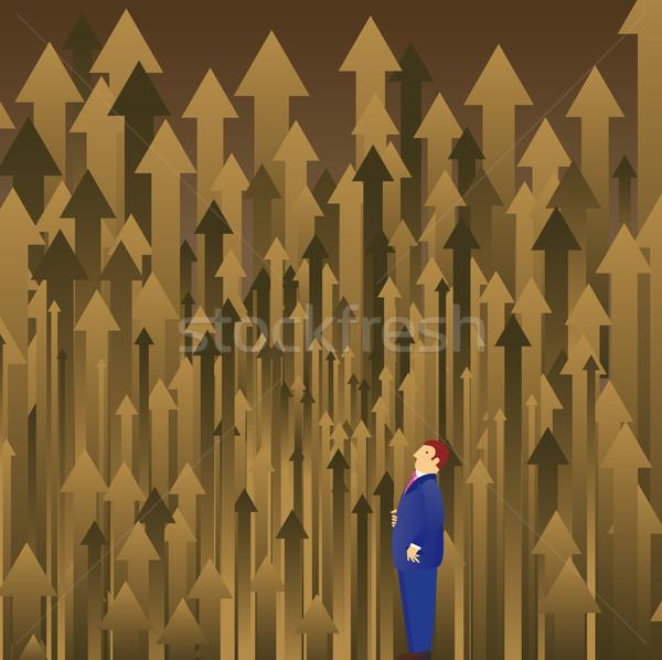 решение лес бизнесмен глядя многие выбора Сток-фото © bonathos