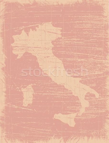Itália mapa silhueta raspe Foto stock © bonathos