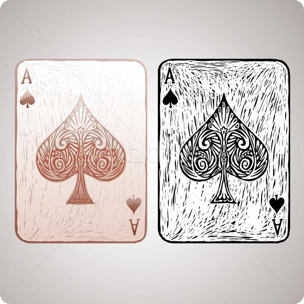 Ace of spades  Stock photo © bonathos