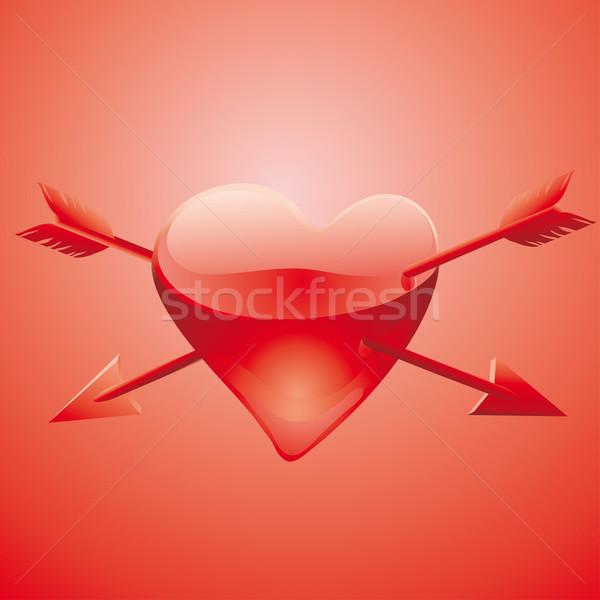 Szkła ranny serca klasyczny kultu Zdjęcia stock © bonathos