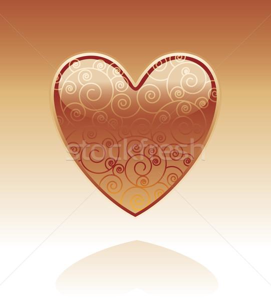 декоративный стекла сердце внутри любви Сток-фото © bonathos
