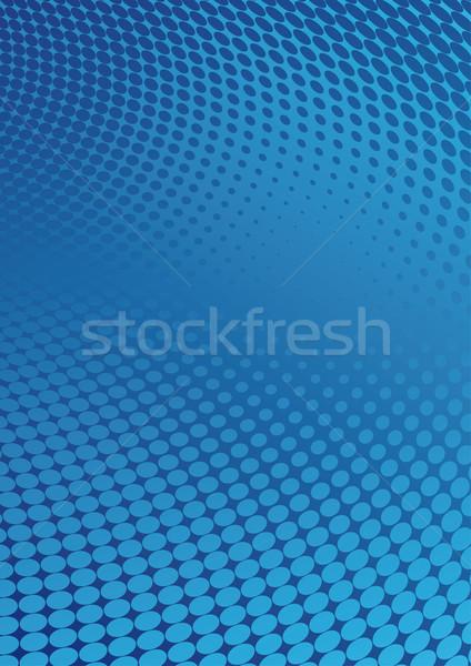 Meio-tom azul estilo abstrato espaço indústria Foto stock © bonathos
