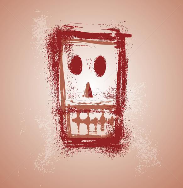 グランジ 頭蓋骨 顔 グラフィック 別 層 ストックフォト © bonathos