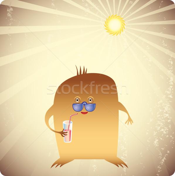 Gut Wetter Sommer Jahrgang Szene frischen Stock foto © bonathos