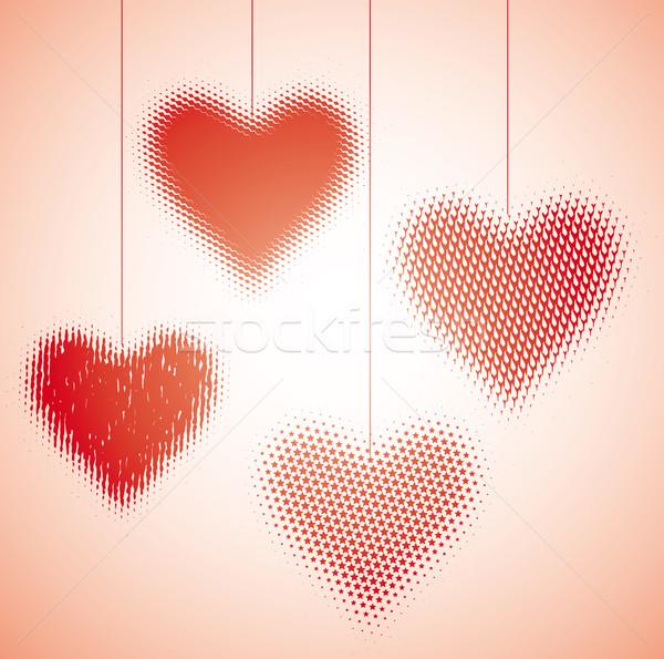 中心 ダンス 4 グラフィック バレンタイン 絞首刑 ストックフォト © bonathos
