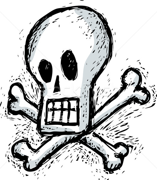 Humorous skull Stock photo © bonathos
