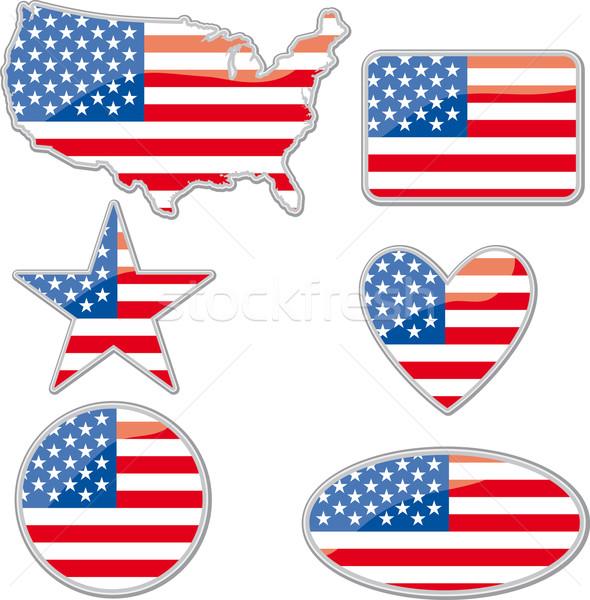 USA placards Stock photo © bonathos