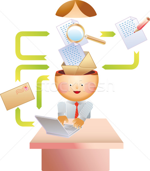 Stock photo: E-mail process