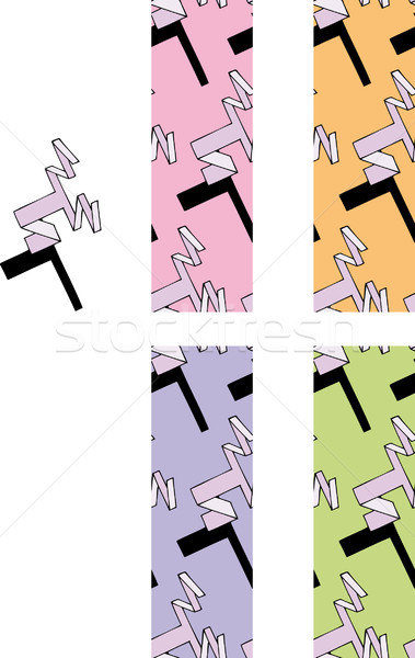 Seamless 1980 style pattern  Stock photo © bonathos
