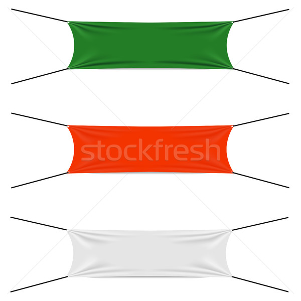 Textile strips set Stock photo © BoogieMan