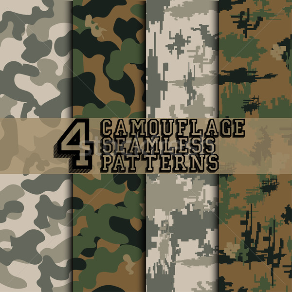 Set of camouflages Stock photo © BoogieMan