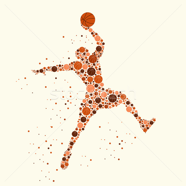 Basketball player concept Stock photo © BoogieMan