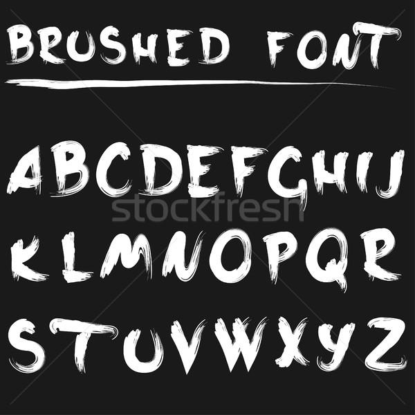 Brushed font white Stock photo © BoogieMan
