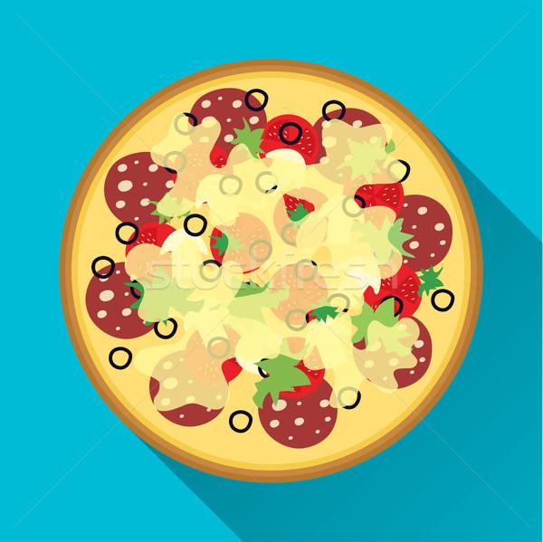 Pizza flat design Stock photo © BoogieMan