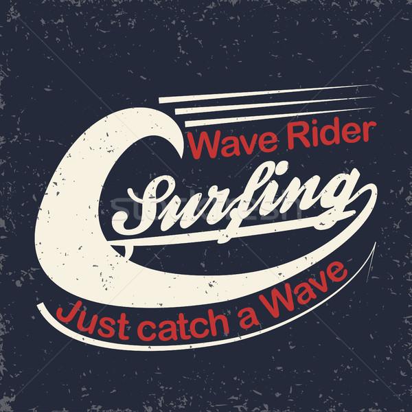 футболки печать Гранж серфинга графического дизайна Сток-фото © BoogieMan