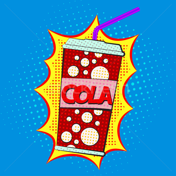 Paper cup for cola Stock photo © BoogieMan
