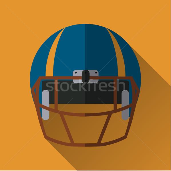 Football helm icon Stock photo © BoogieMan