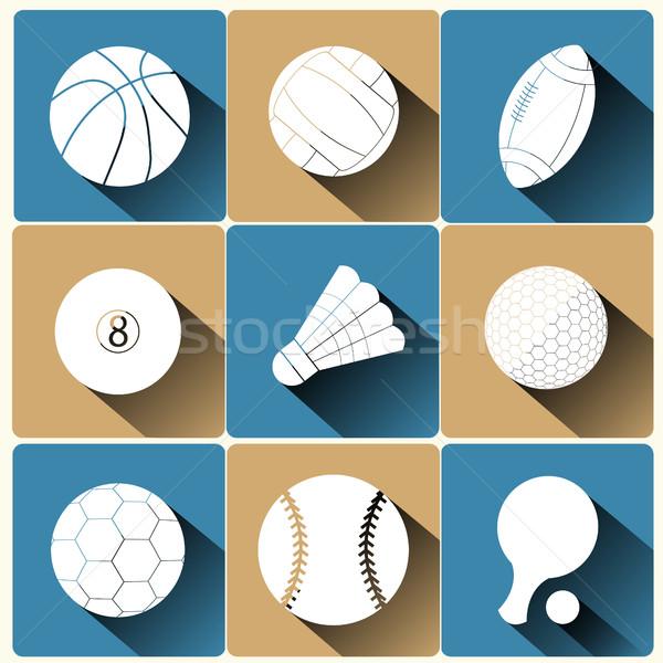 Sport basketbal volleybal voetbal Stockfoto © BoogieMan