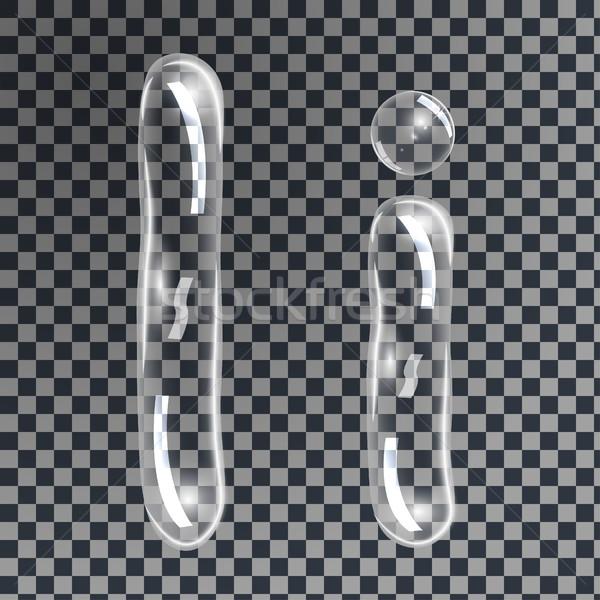 пузырьки письма нежный подводного мыльные пузыри форма Сток-фото © BoogieMan