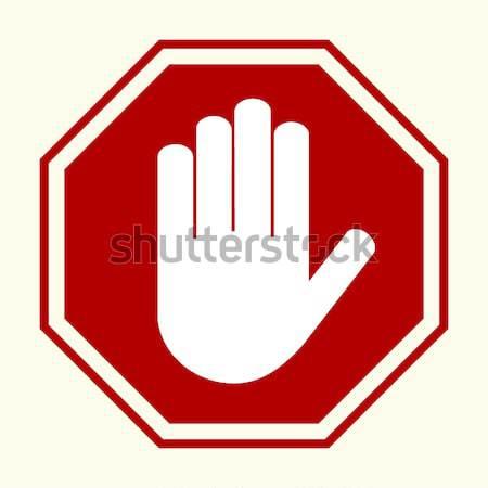 Stop hand sing Stock photo © BoogieMan