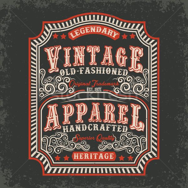 Shirt stampa design vintage etichetta Foto d'archivio © BoogieMan