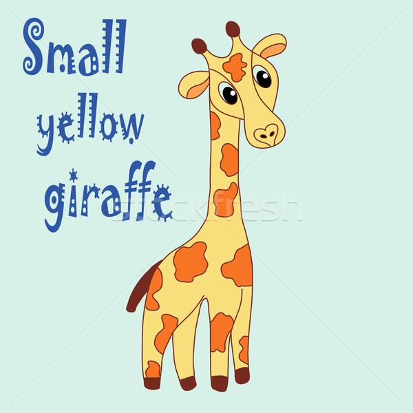 Mão desenho girafa bebê roupa Foto stock © BoogieMan