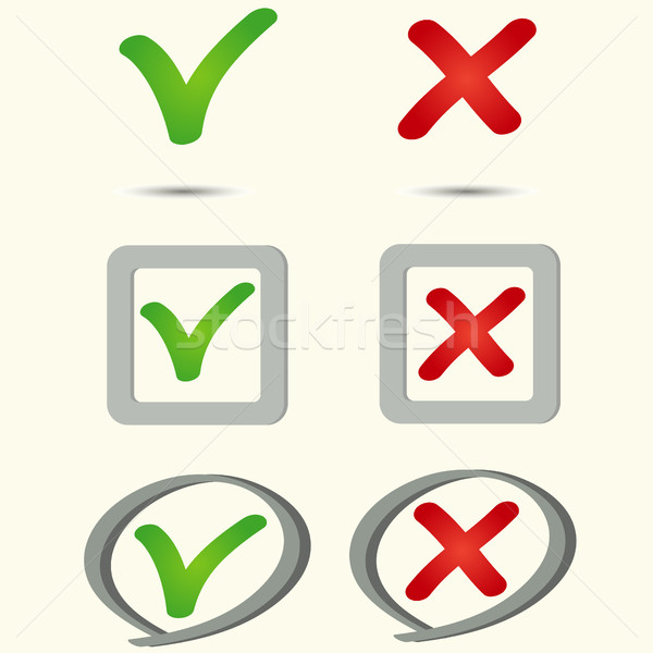 yes no symbol icon Stock photo © BoogieMan