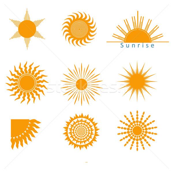 suns icons set Stock photo © BoogieMan