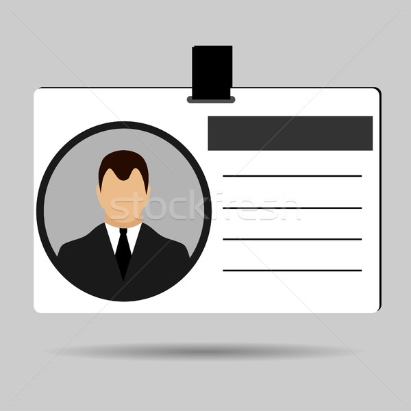 Id card flat Stock photo © BoogieMan
