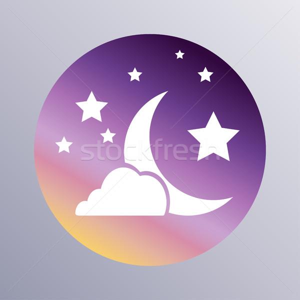 Sleep icon flat Stock photo © BoogieMan