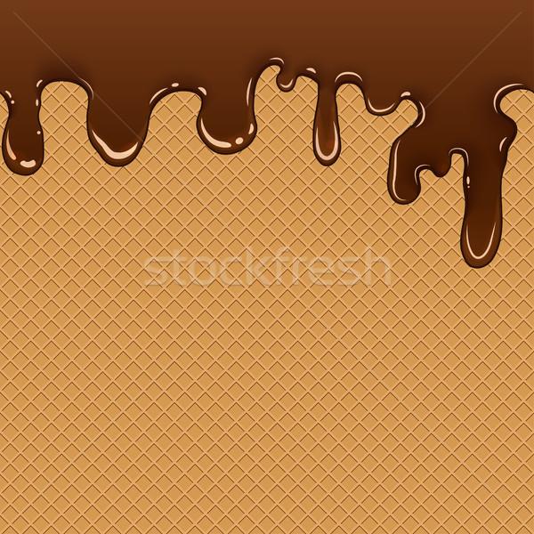 вафельный шоколадом бесшовный вектора Сток-фото © BoogieMan