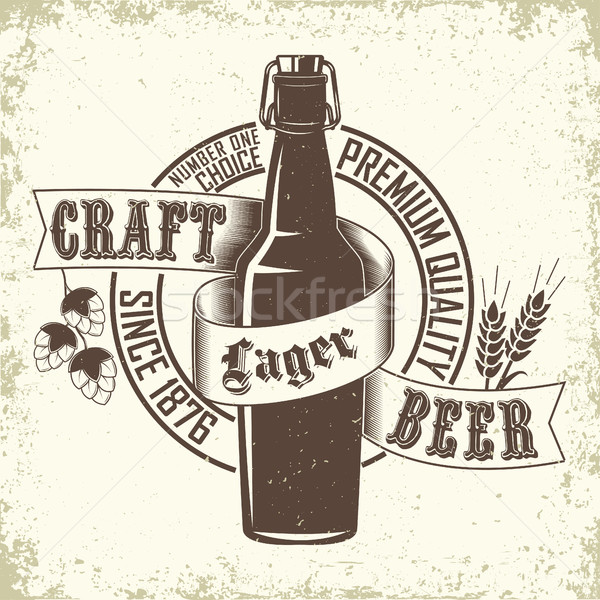Brewery logo design Stock photo © BoogieMan