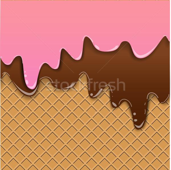 Waffle background with jam Stock photo © BoogieMan