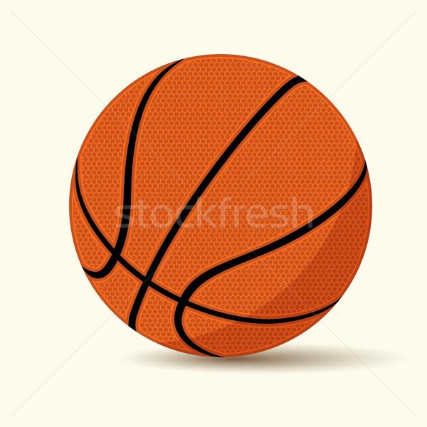 Сток-фото: баскетбол · Cartoon · стиль · изолированный · белый · вектора
