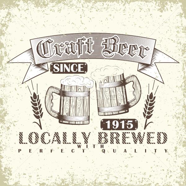 Craft beer emblem Stock photo © BoogieMan